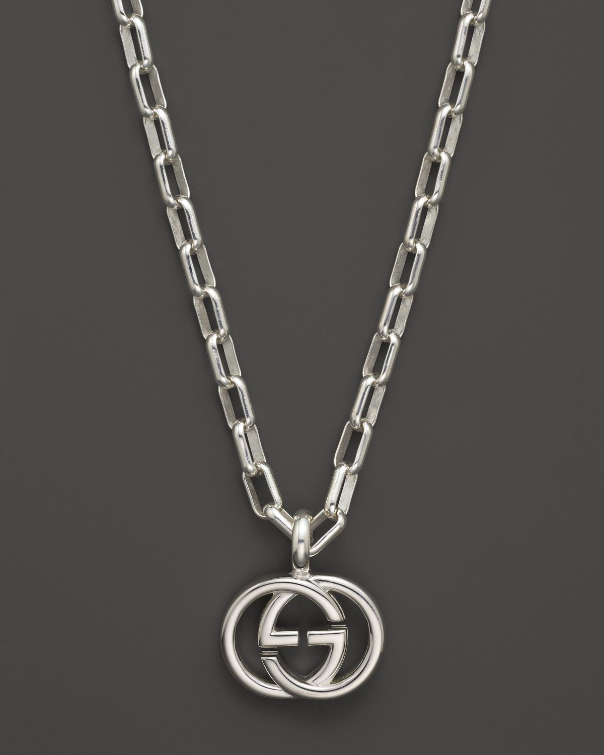 Gucci Quot Interlocking Collection Quot Double G Necklace 20 Quot In