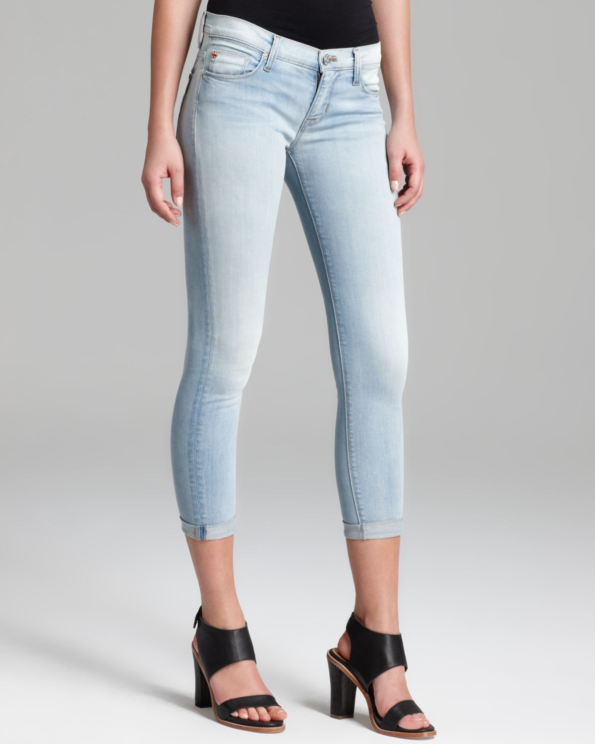 Images of Super Skinny Cropped Jeans - Reikian