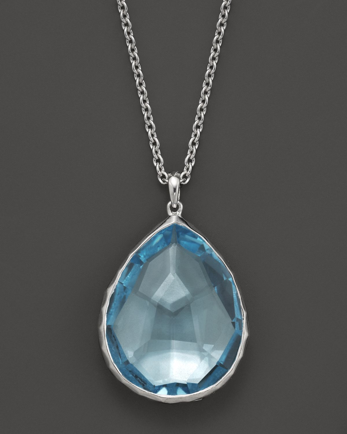 Lyst ippolita ippolita sterling silver rock candy large teardrop gallery mozeypictures Gallery
