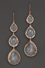 Ippolita Ippolita Rosé Rock Candy Triple Teardrop Earrings in Clear Quartz - Lyst