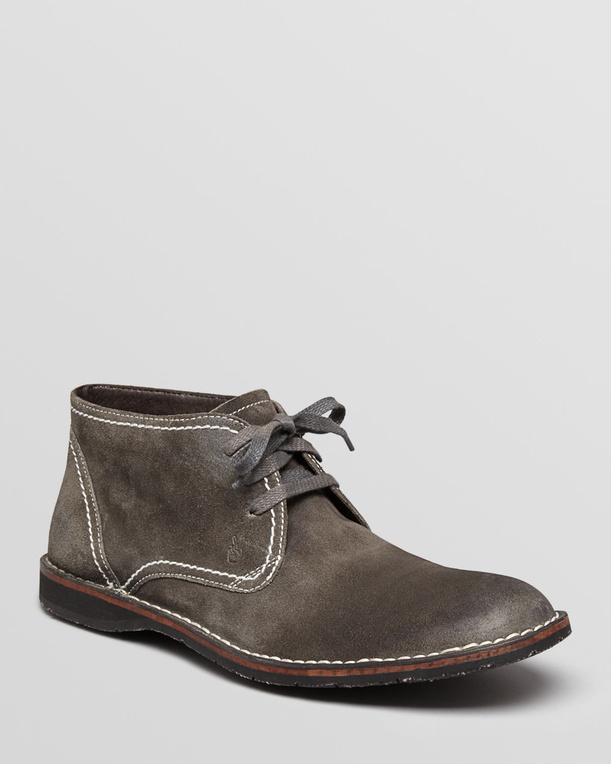 John varvatos Hipster Suede Chukka Boots in Black for Men | Lyst