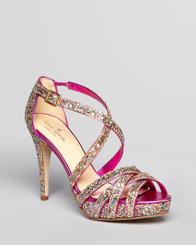 Lyst Kate Spade New York Glitter Platform Sandals Ginger