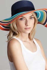 Kate Spade Multi-color Stripe Straw Sun Hat - Lyst