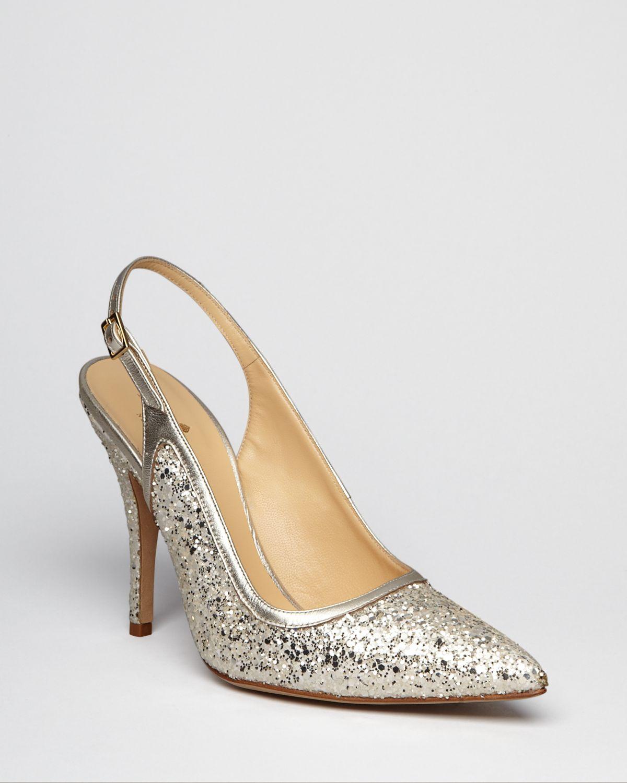 9aa8f0e20689 Lyst - Kate Spade Pointed Toe Pumps Lynn Slingback in Metallic