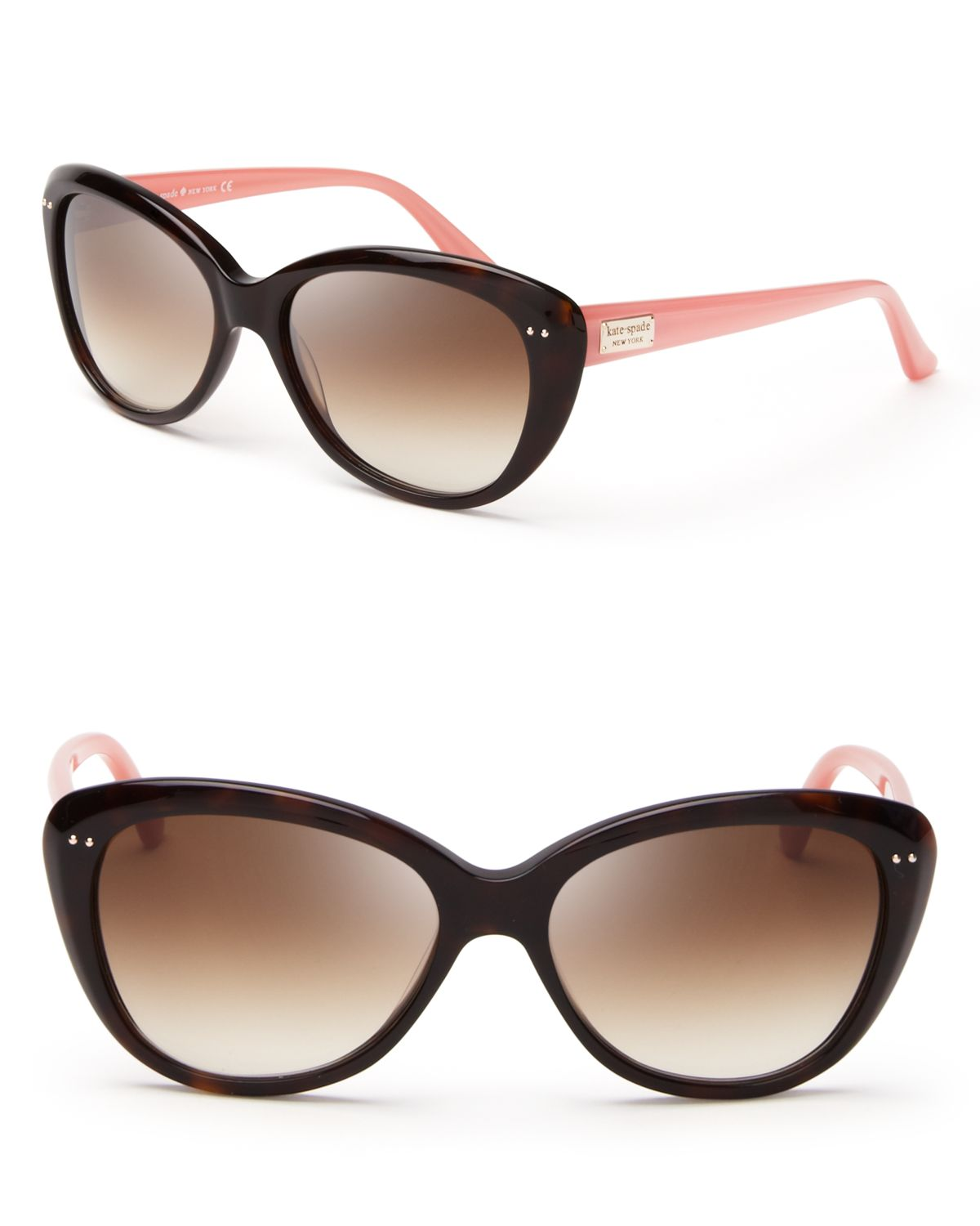 Kate Spade Cat Eye Sunglasses  kate spade new york angelique mod cateye sunglasses in pink lyst