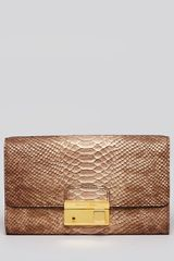 Michael Kors Clutch Gia with Lock - Lyst