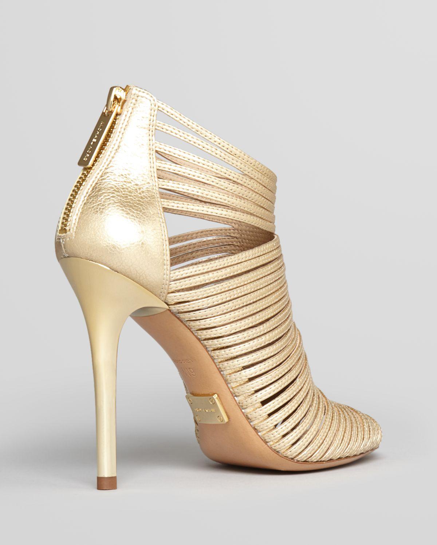 Michael kors Sandals - Maxi Strappy High Heel in Metallic | Lyst