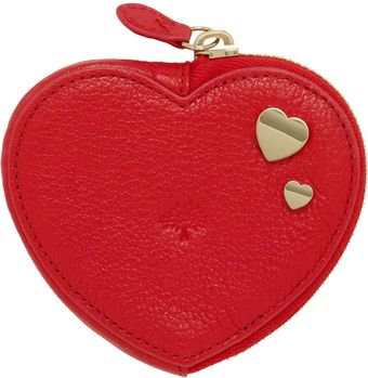 Mulberry Heart Zip Purse with Heart Rivets - Lyst