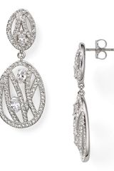 Nadri Open Work Drop Earrings - Lyst