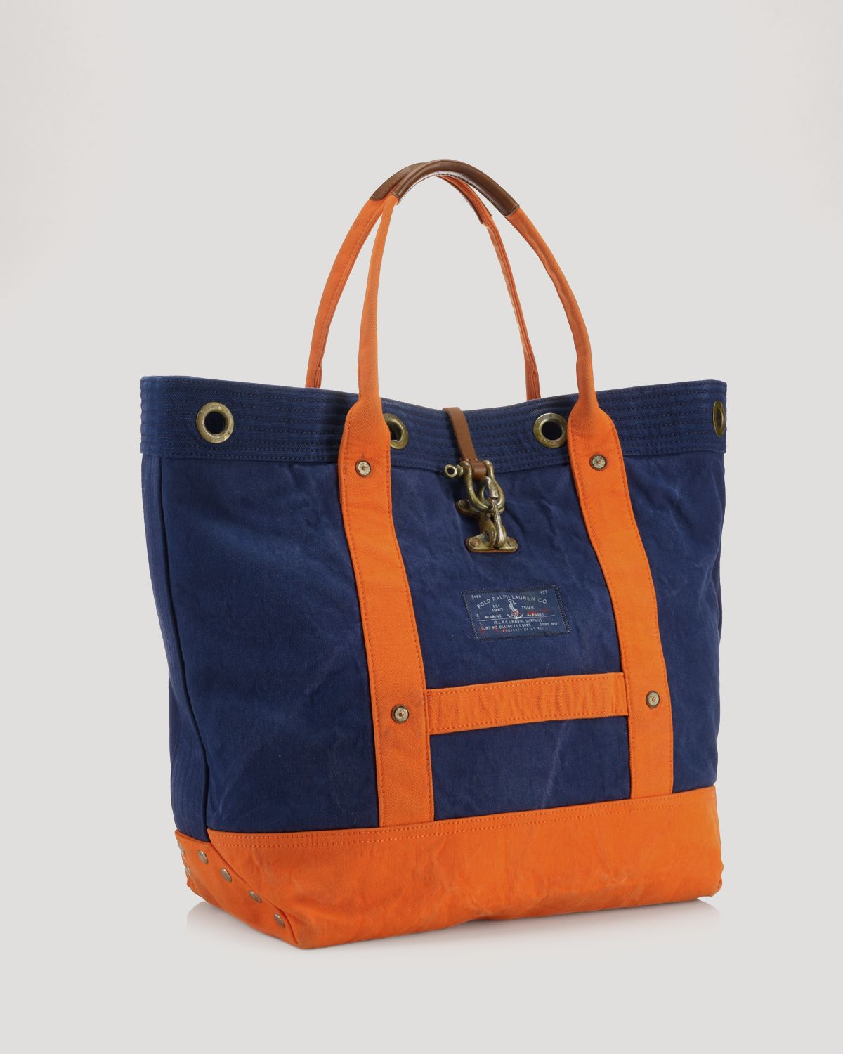 Ralph lauren Polo Naval Surplus Colorblocked Canvas Tote in Blue for Men  a78bdeafa3156