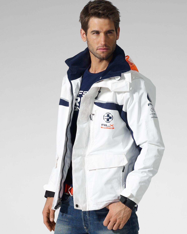 Ralph Lauren Fashion Show At New York: Ralph Lauren Rlx Marine Utility Jacket In White For Men
