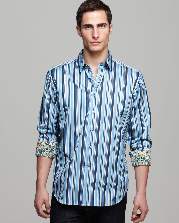 Robert Graham Maclear Multistripe Sport Shirt Classic Fit ... Robert Graham Designer