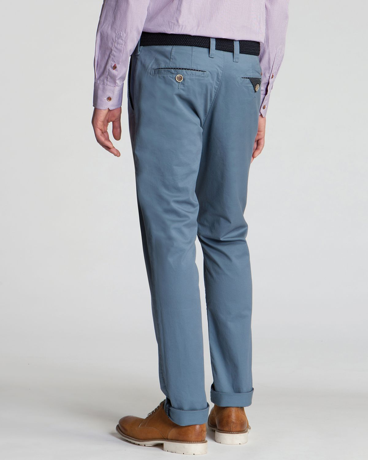 6f707d9c2 Lyst - Ted Baker Aragog Slim Fit Chino Pants in Blue for Men