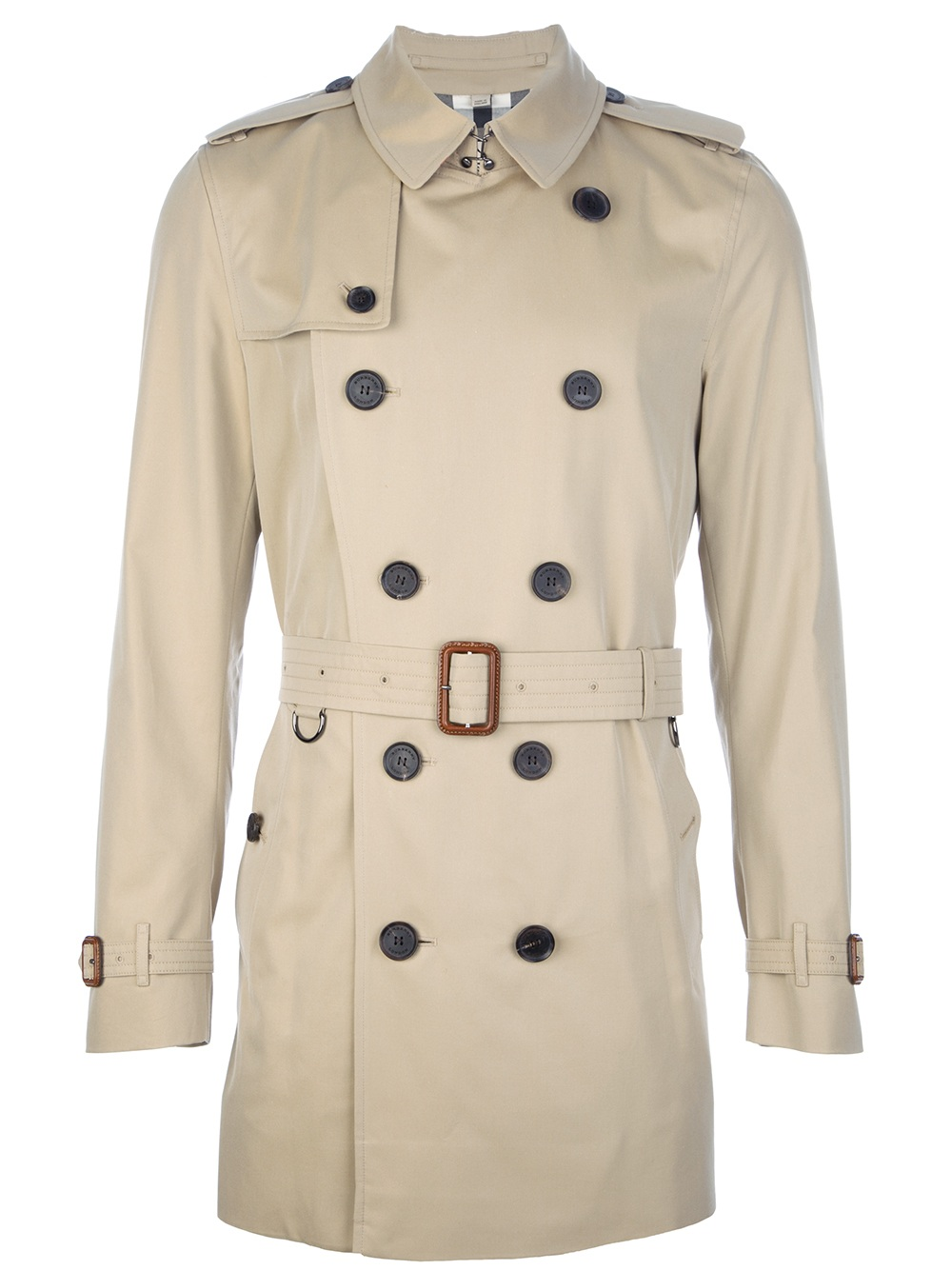 169fd2268a73 Lyst - Burberry Britton Trench Coat in Natural for Men