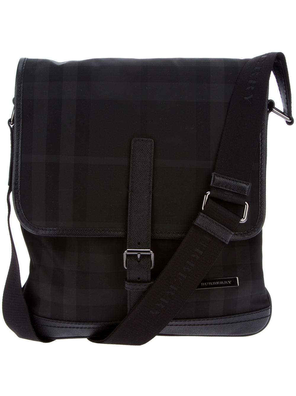 Lyst - Burberry Messenger Bag in Black for Men bf6d5b475c148