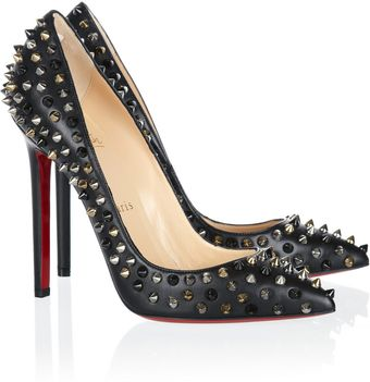 Christian Louboutin Pigalle Spikes 120 Nappa Leather Pumps - Lyst