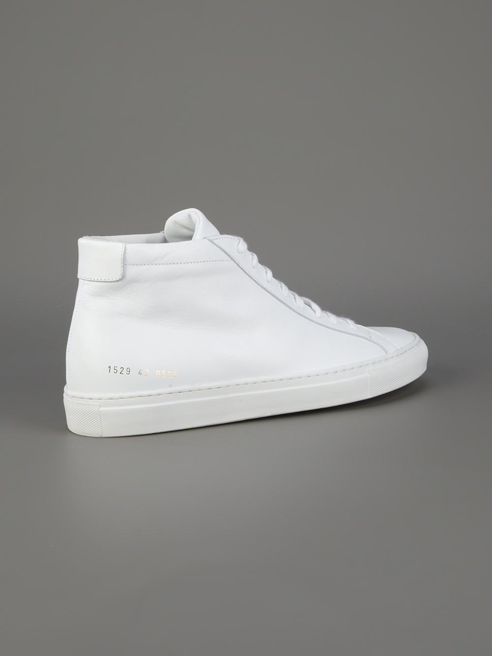 common projects leather high top sneakers in white for men lyst. Black Bedroom Furniture Sets. Home Design Ideas