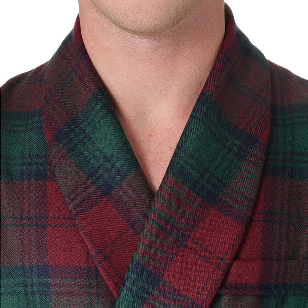 Derek Rose Tartan Wool Dressing Gown in Green for Men - Lyst