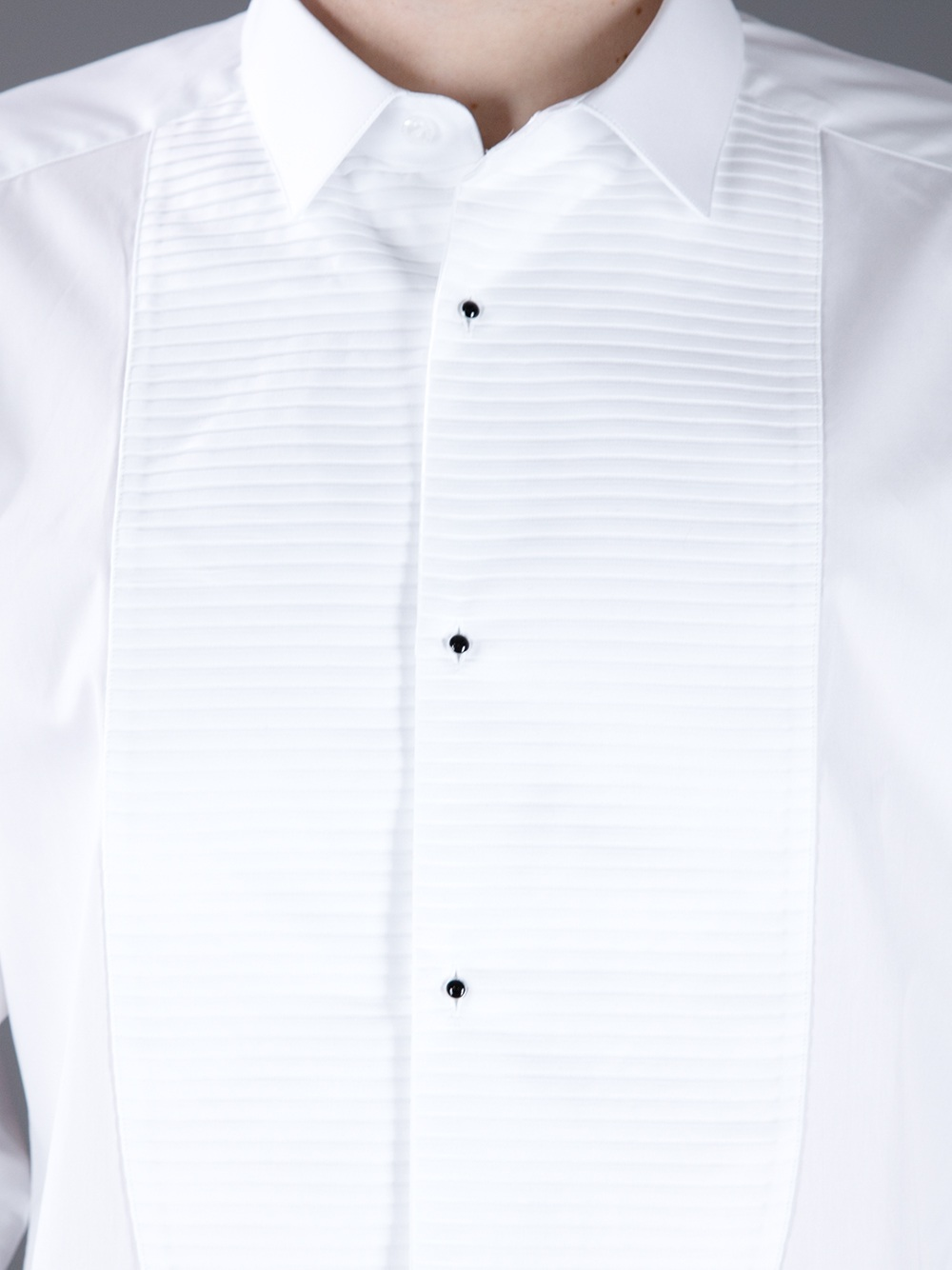 fb6306ff5613 Available Size Source · Lyst Dolce   Gabbana Slim Tuxedo Shirt in White for  Men