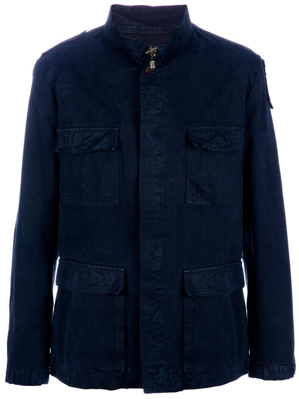 Lyst Dondup Field Jacket In Blue For Men