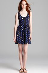 French Connection Dress Polka Dot - Lyst