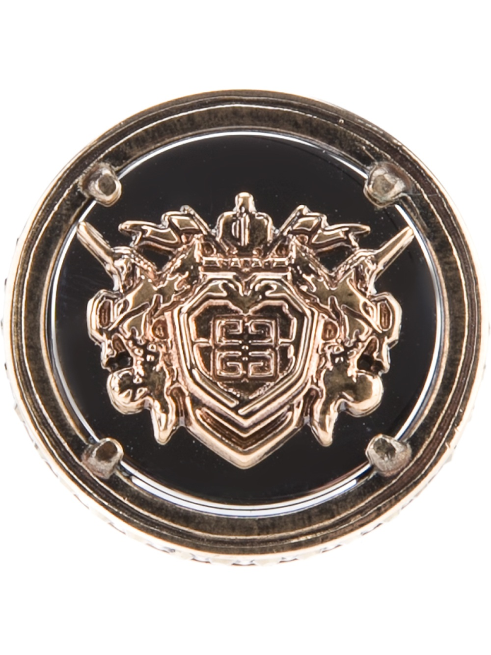 Givenchy Crest Ring In Metallic Lyst
