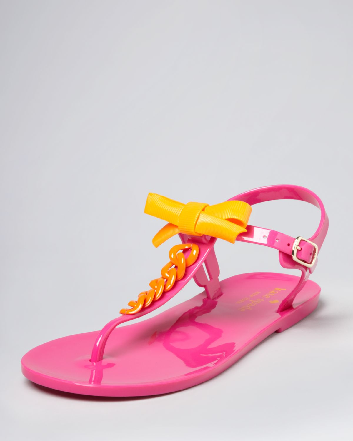 25159060b117 Lyst - Kate Spade Jelly Thong Sandals Farren Flat in Pink