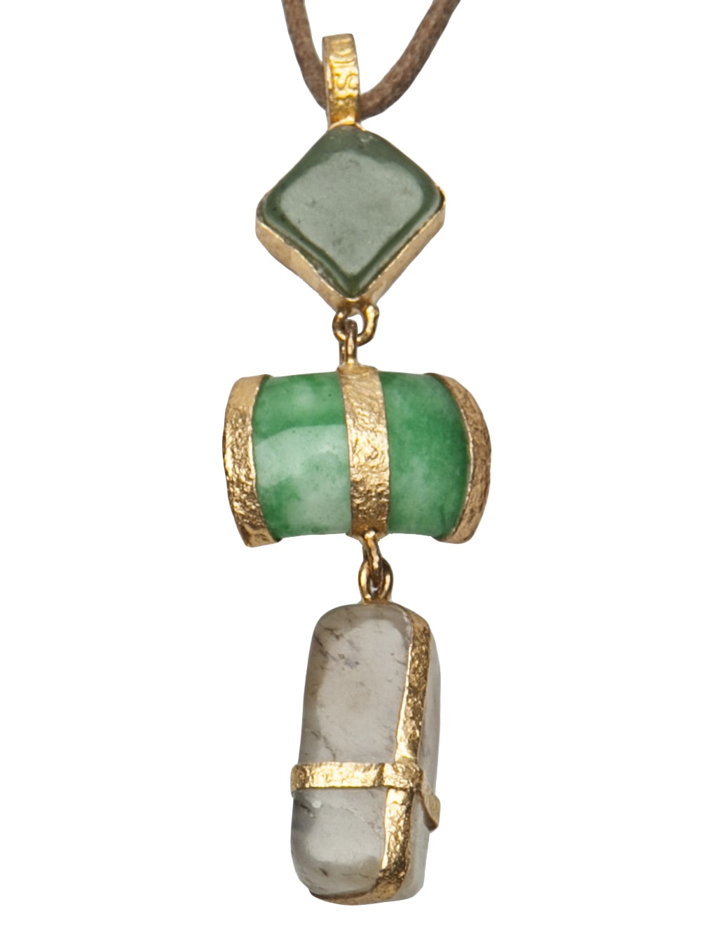 Lyst Lou Zeldis Jade Necklace In Green