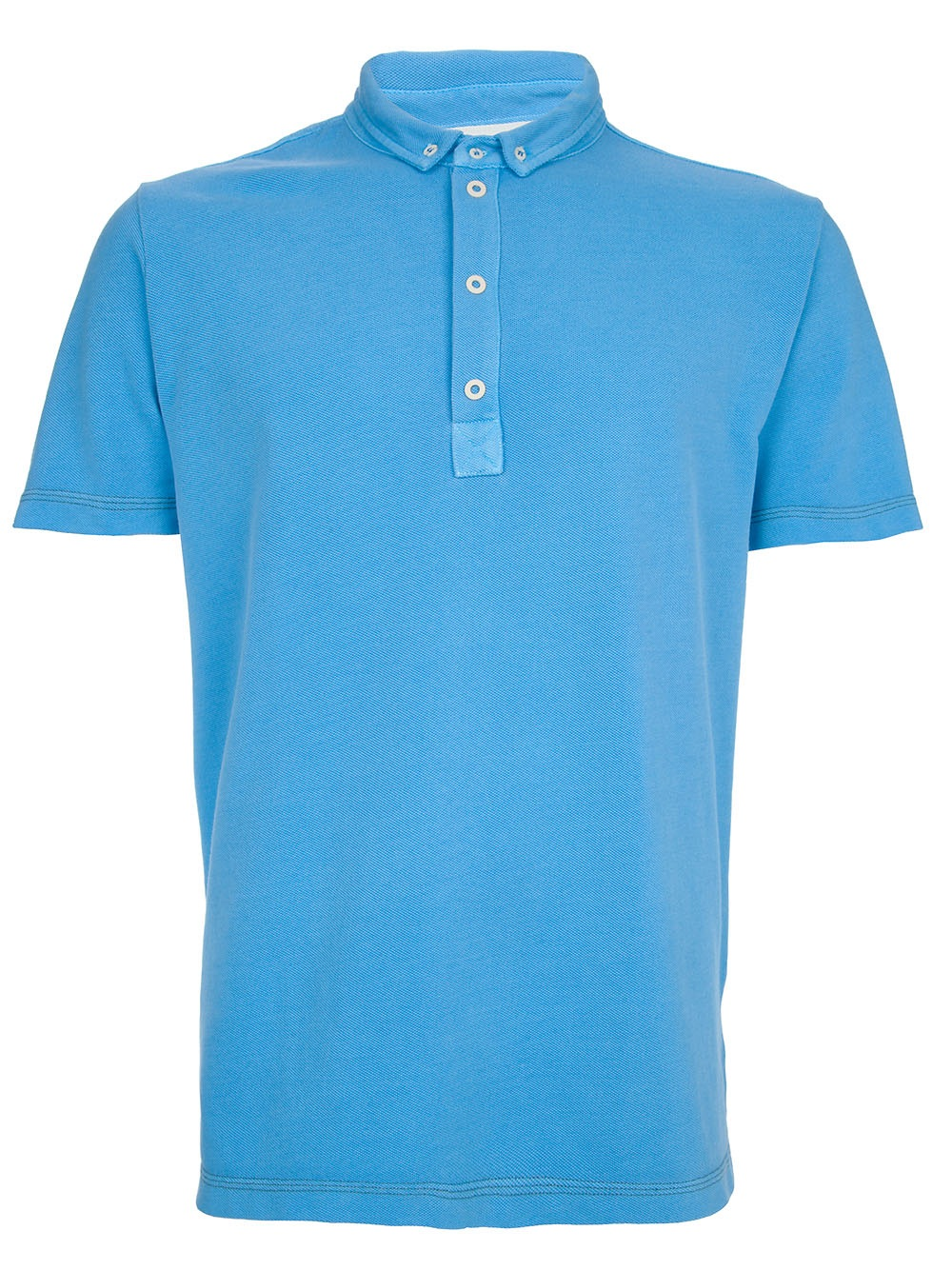 Mauro grifoni button down polo shirt in blue for men lyst for No button polo shirts