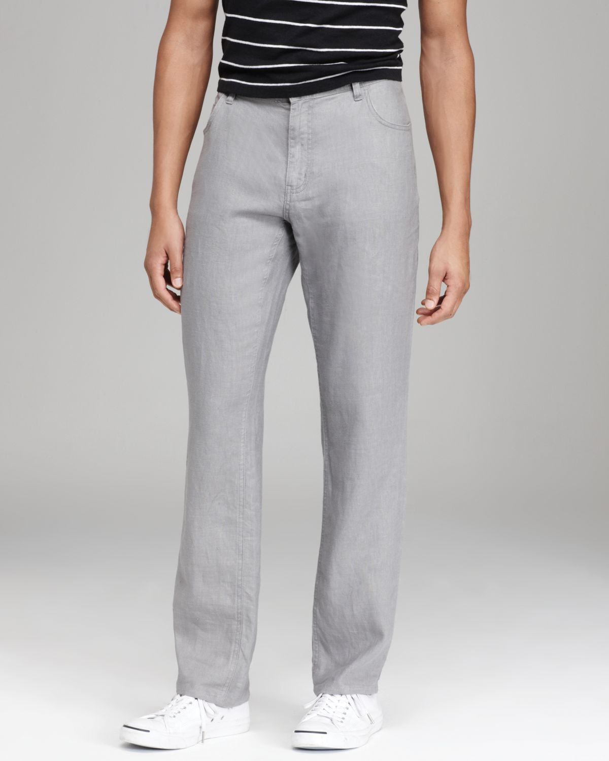 Michael kors Linen Pants in Gray for Men | Lyst