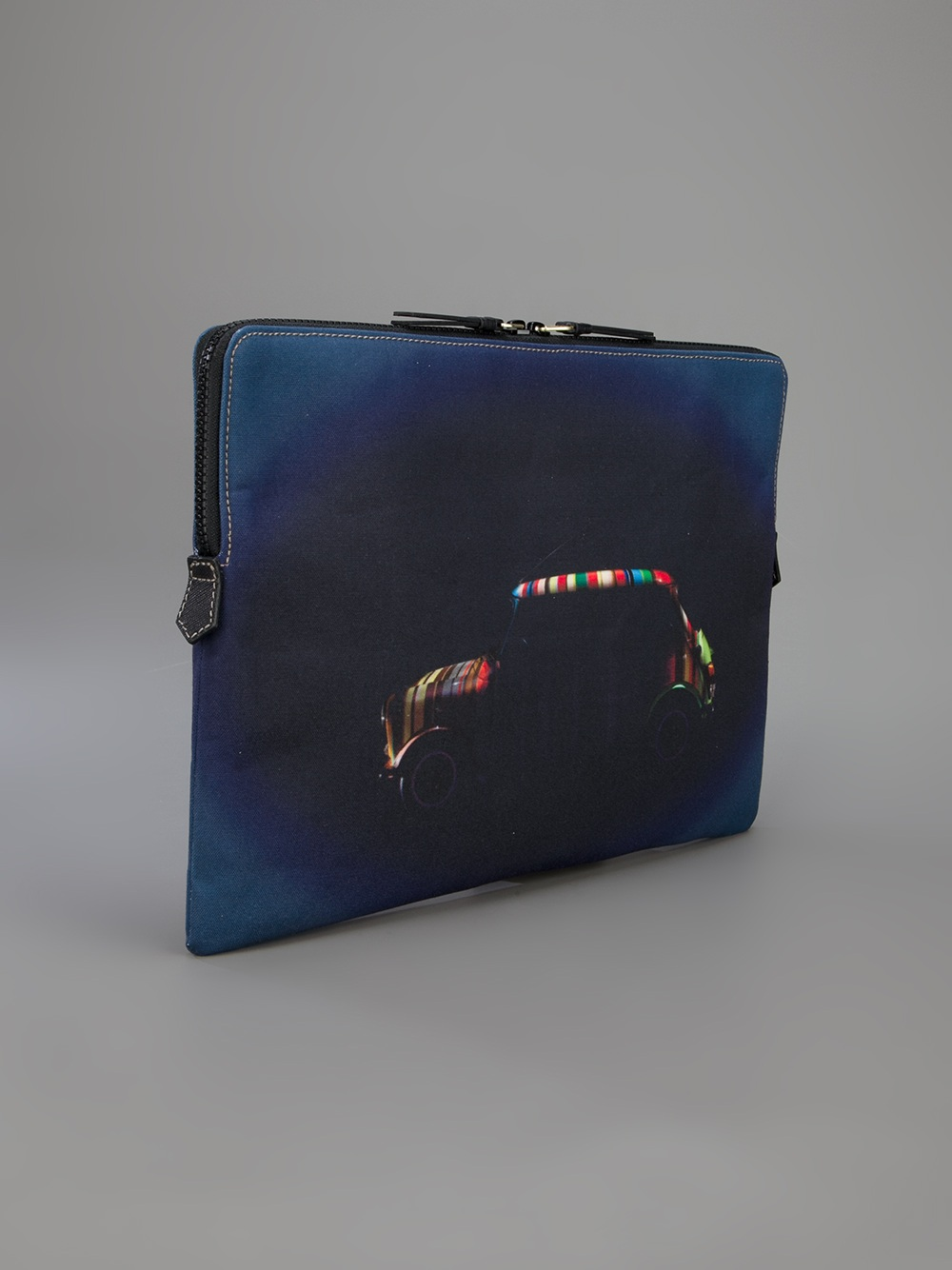Lyst Paul Smith Mini Print Laptop Case In Blue For Men