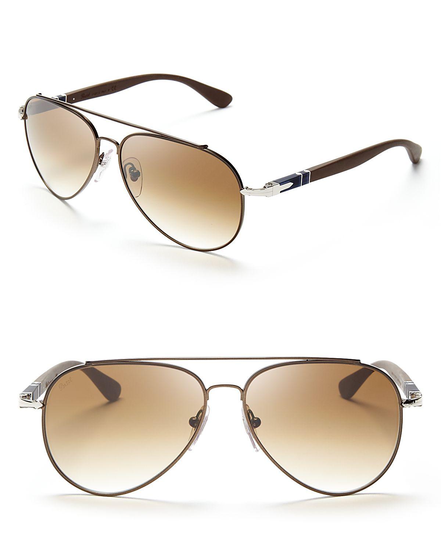 623ec9be60 Lyst - Persol Crystal Metal Pilot Aviator Sunglasses in Metallic for Men