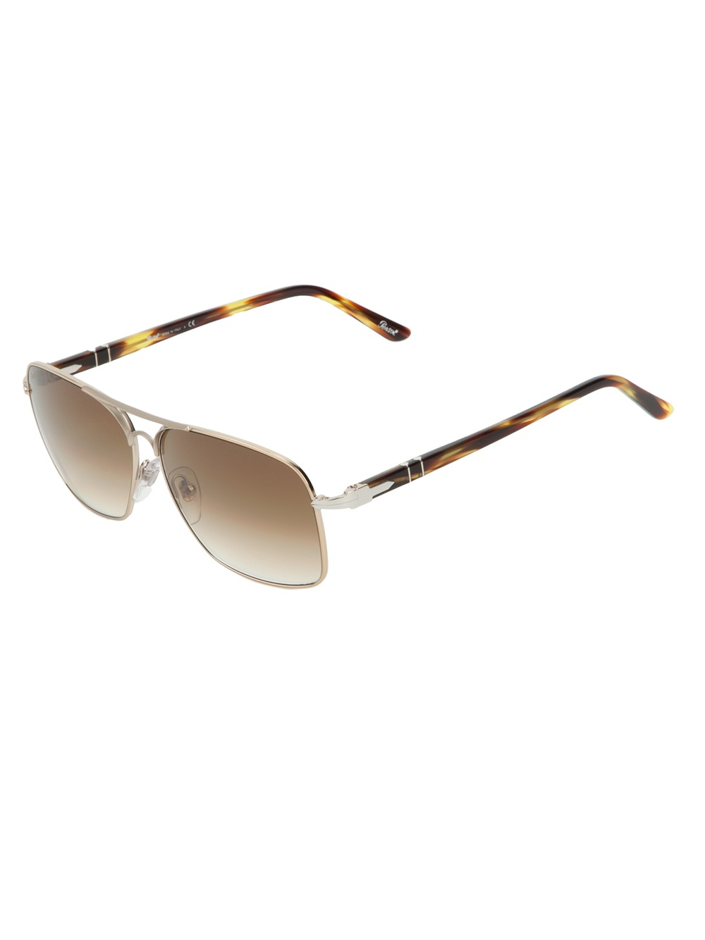 7a894bf26c70f Persol Square Frame Sunglasses in Metallic for Men - Lyst