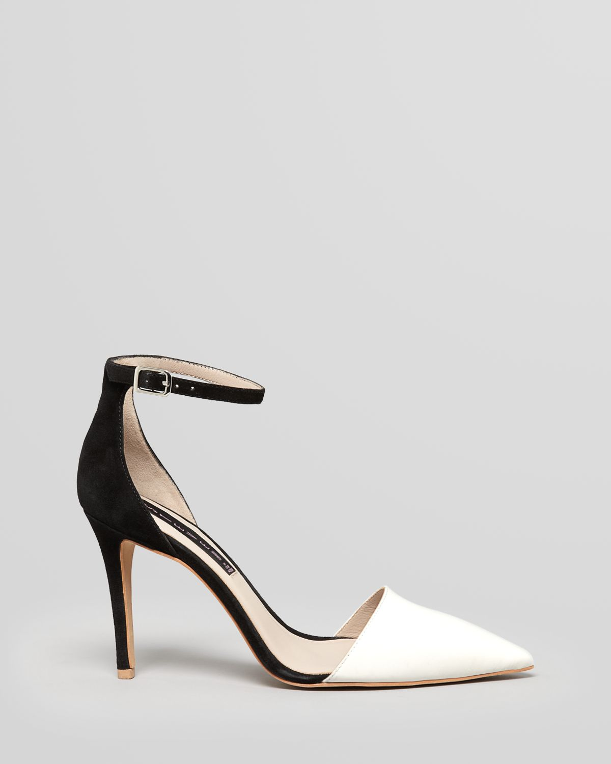 Lyst Steven By Steve Madden Pointed Toe Pumps Anibell 2 Tone High Heel In Gray