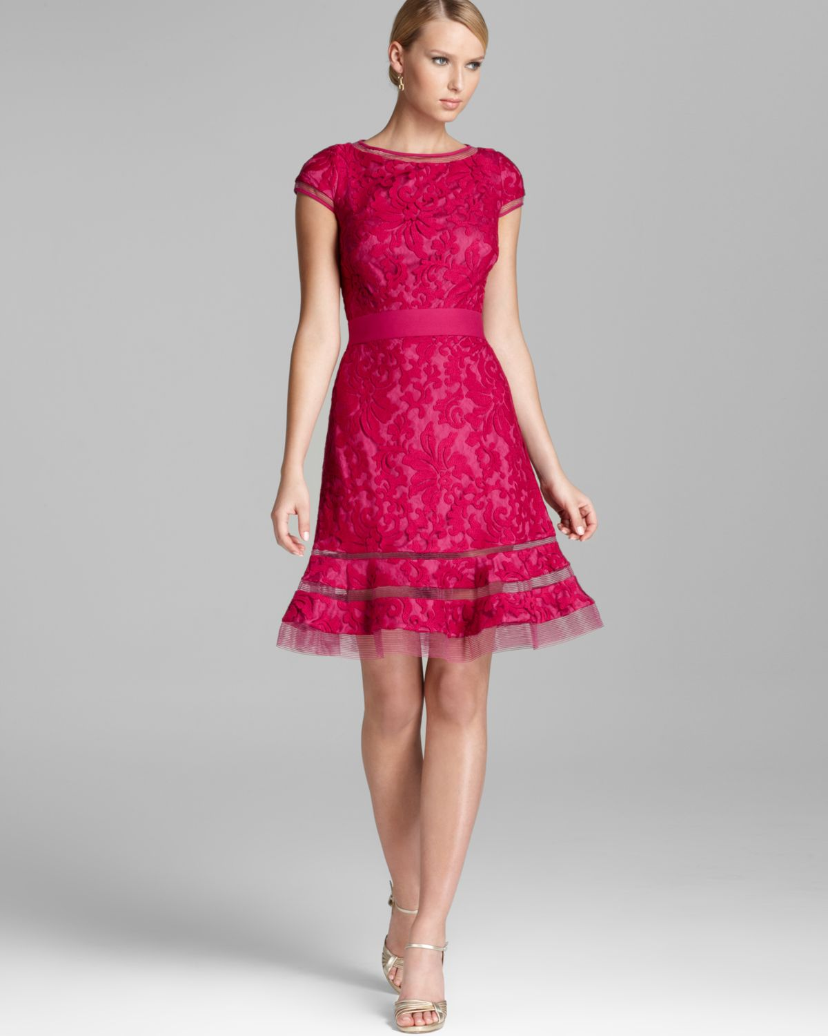 Pink Lace Dresses - Dress Xy
