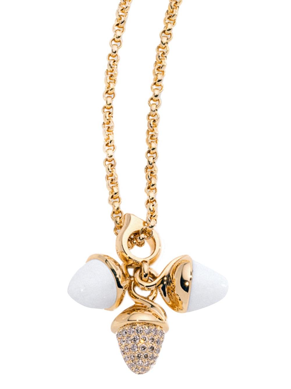 V JEWELLERY Empire pendant necklace - Metallic KjnnE