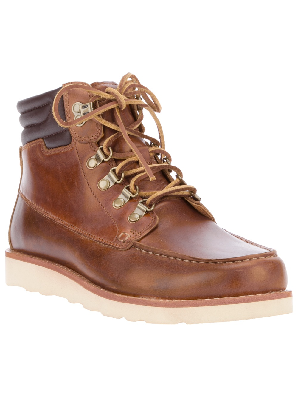 Timberland Abington Scout Leather Lace Up Boot in Brown ...