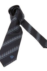Versace Feather Jacquard Tie - Lyst