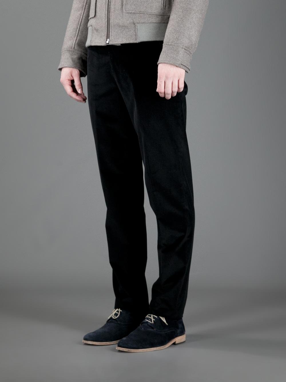 Lyst Saint Laurent Corduroy Trouser In Black For Men