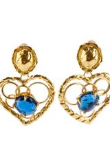 Yves Saint Laurent Vintage Heartshaped Earrings - Lyst