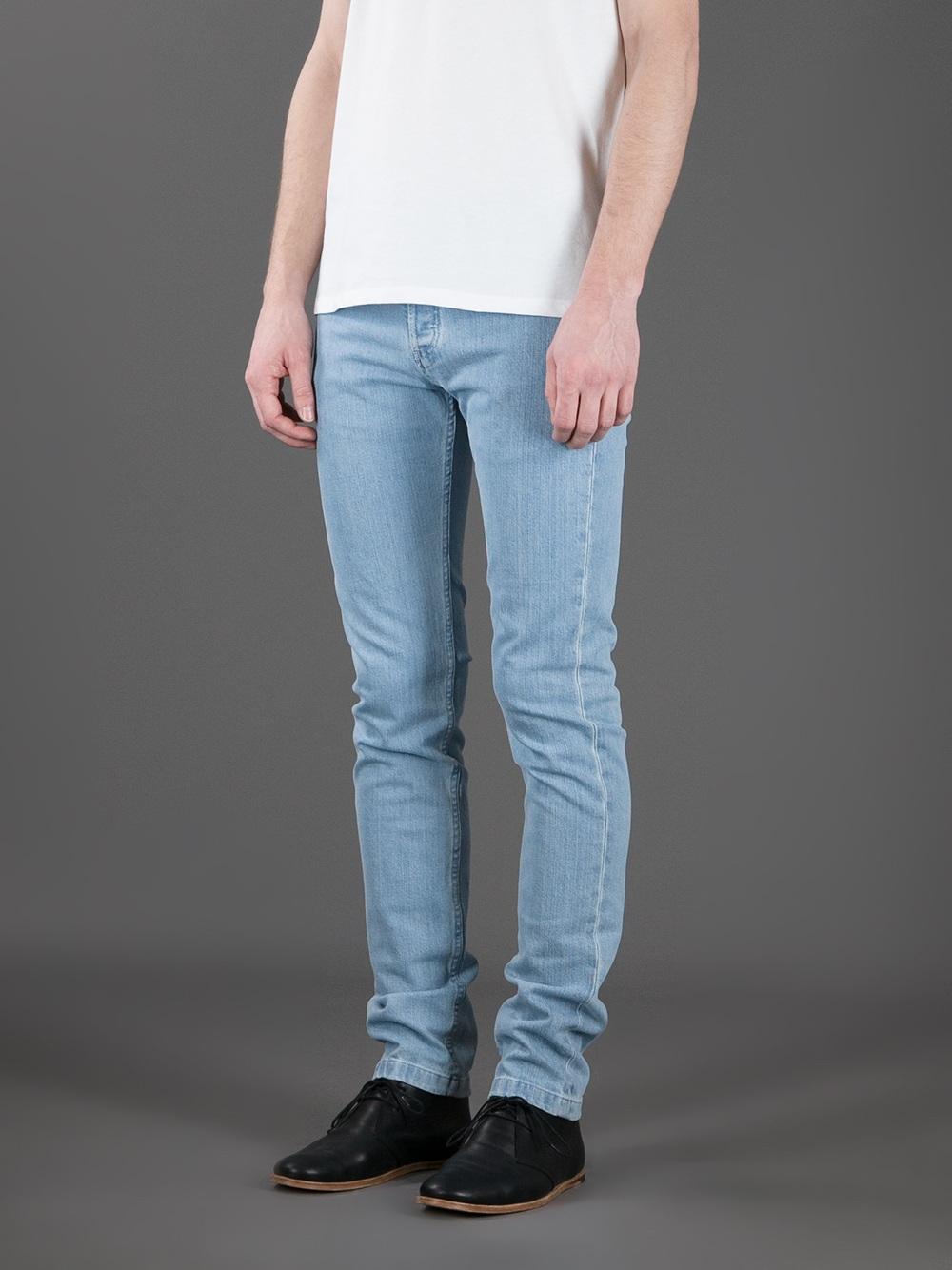 lyst a p c petit new standard jean in blue for men. Black Bedroom Furniture Sets. Home Design Ideas