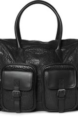 Belstaff Carnegie Textured leather Tote Bag - Lyst