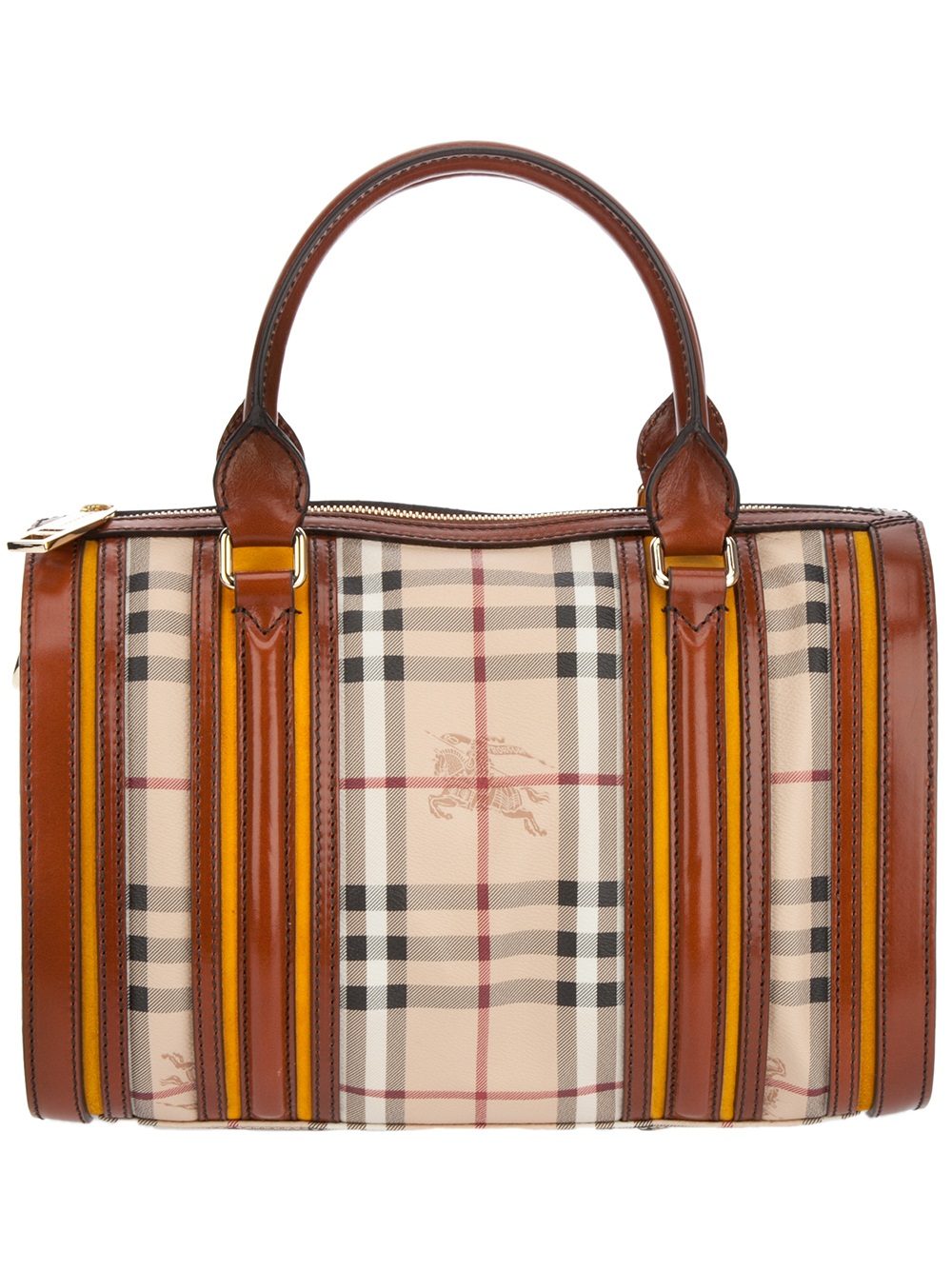 9a577af509f6 Lyst - Burberry Haymarket Check Bowling Bag in Brown