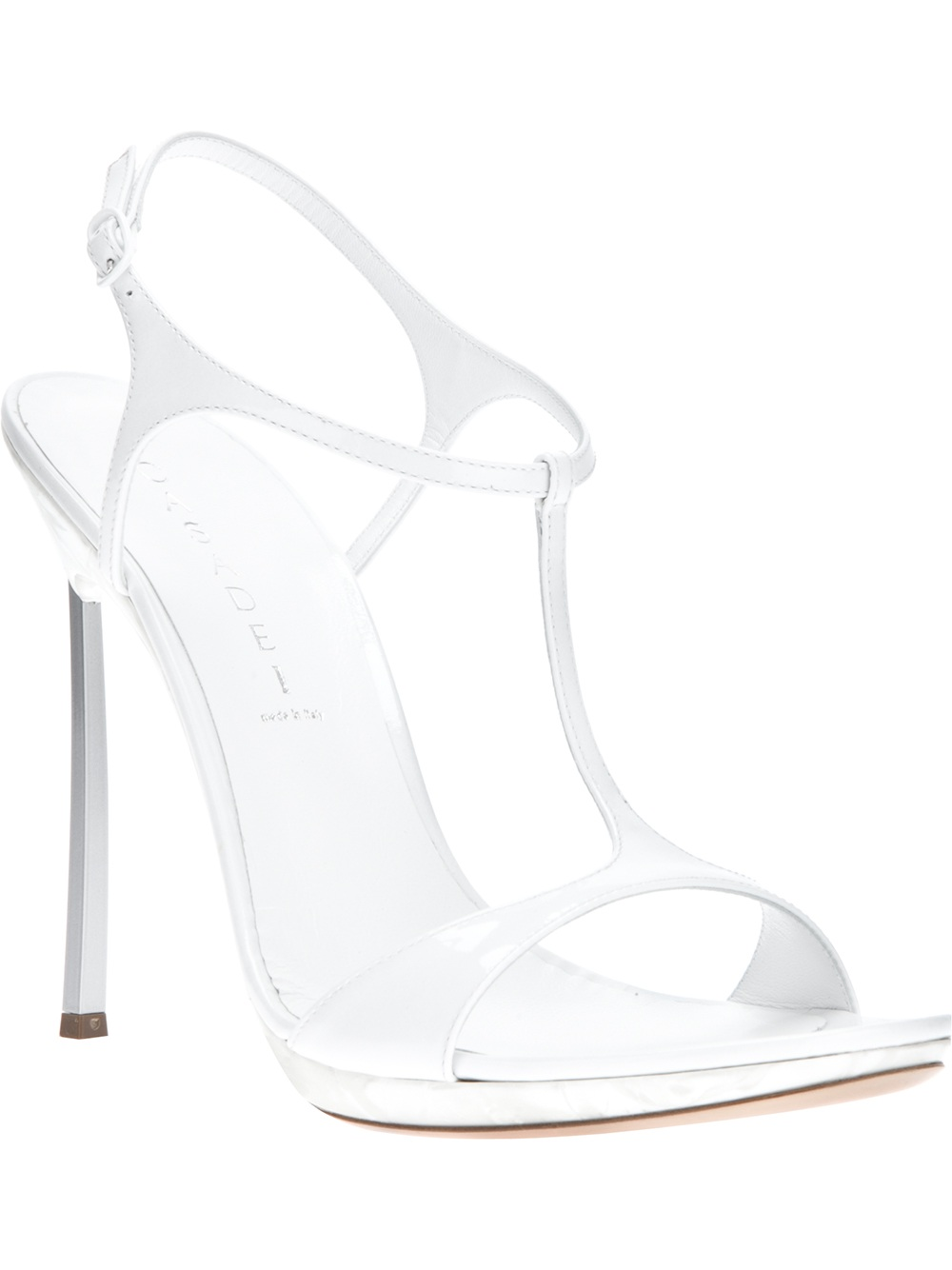 f121bc60d Lyst - Casadei Ankle Strap Sandal in White