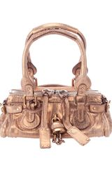 Chloé Metallic Leather Bag - Lyst