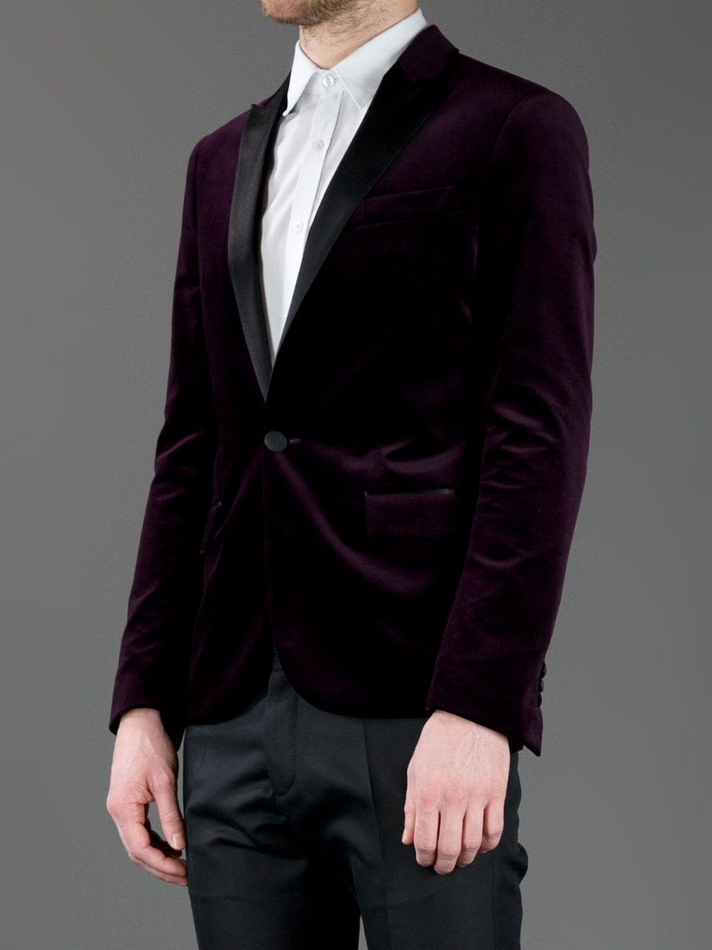 Dsquared² Velvet Evening Jacket in Purple for Men | Lyst