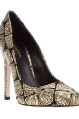 Giambattista Valli Brocade Pump - Lyst