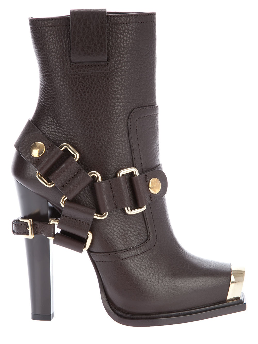 Gianmarco Lorenzi High Heel Boot In Brown Lyst