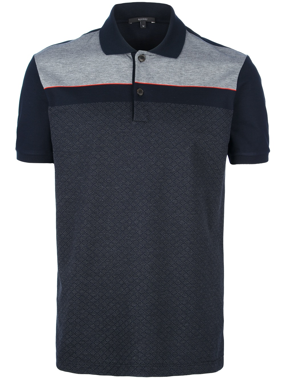 Gucci Polo Neck T Shirt In Blue For Men Lyst