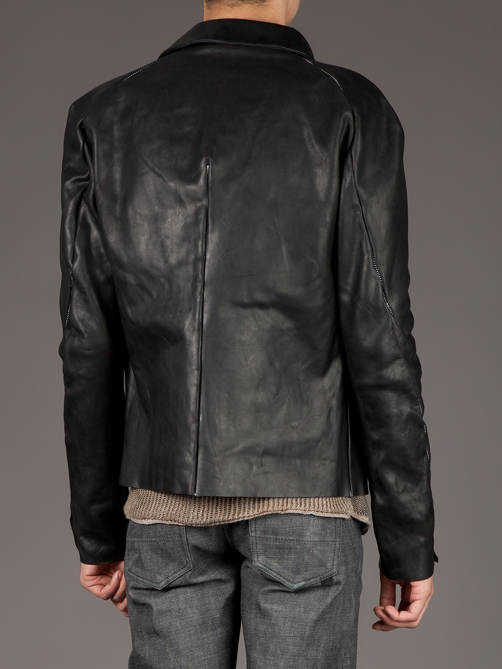 126759d3929 Lyst - Incarnation Classic Horse Leather Jacket in Black for Men